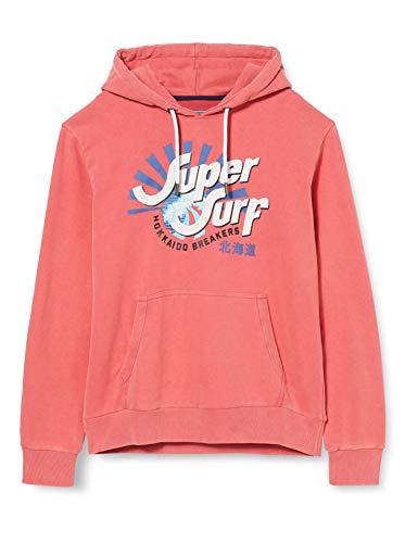 Superdry Herren Shapers N Makers Hood Sweatshirt, Rot (Vintage Red 03J), Medium
