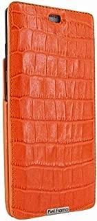 Piel Frama Samsung Galaxy Note 8 iMagnum Leather Case - Orange Cowskin-Crocodile