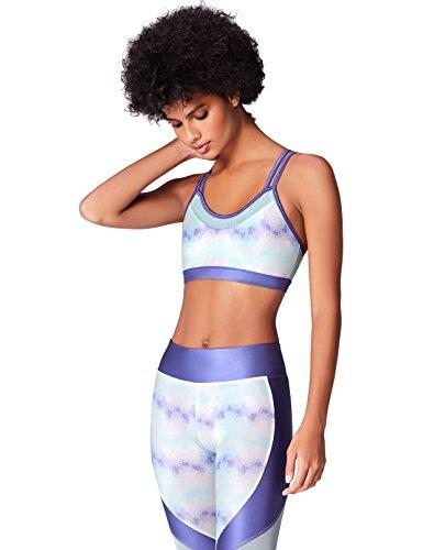 Activewear Sujetador Deportivo para Mujer, Azul (Blue), (Talla del fabricante: Small)
