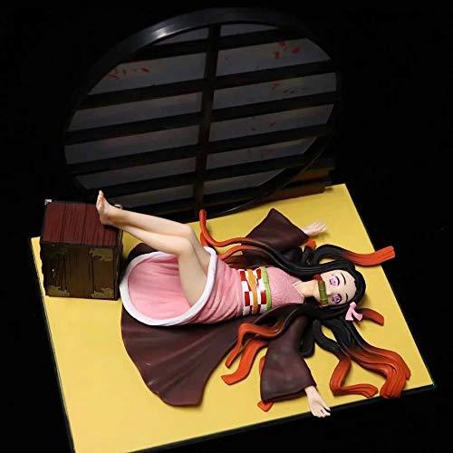 HYKCSS Demon Slayer: Kamado Nezuko Sleeping Pose Versión Modelo Decorativo de Juguete de Escultura de muñeca con una Altura de 17 cm