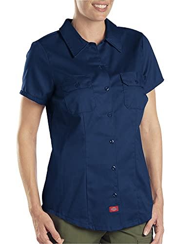 Dickies Women's Short-Sleeve Work Shirt, Dark navy, Small