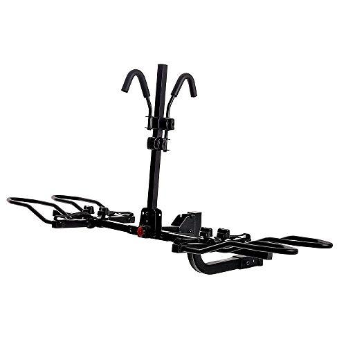 KAC Overdrive Sports K2 2 Zoll Anhängerkupplung montiert Rack 2-Bike Plattform Style Träger für Standard-, Fat Reifen- und Elektrofahrräder – 27,2 kg Fahrrad schwere Tragkraft – Smart Tilting – RV Nutzung verboten