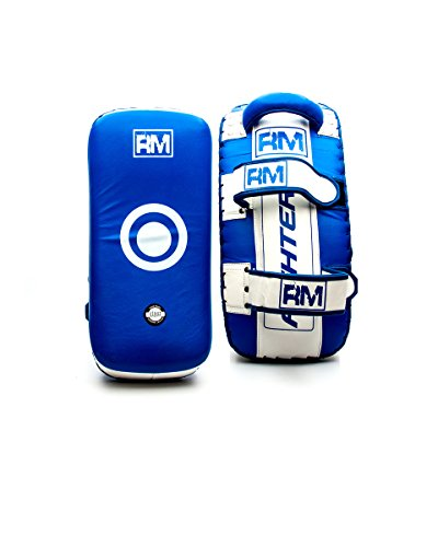 Strike Pads Braccio Gomito Shield Curved Thai Kickboxing in Vera Pelle Ringmaster UK