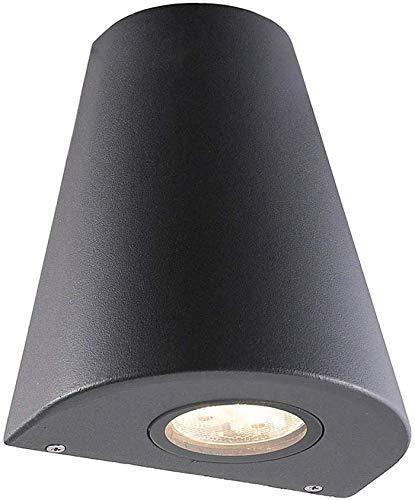 Mooie moderne LED decoratieve verlichting buitenverlichting grijs waterdicht gietijzeren lamp binnen / buiten aluminium Sconce downlight IP54 acryl lampenkap kegel tuin design garage hall entree
