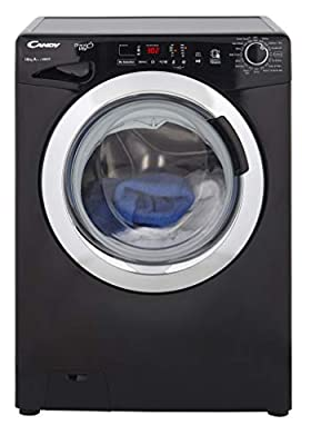 Candy GVS1410DC3B Freestanding Washing Machine, NFC Connected, 10Kg Load, 1400rpm spin, Black
