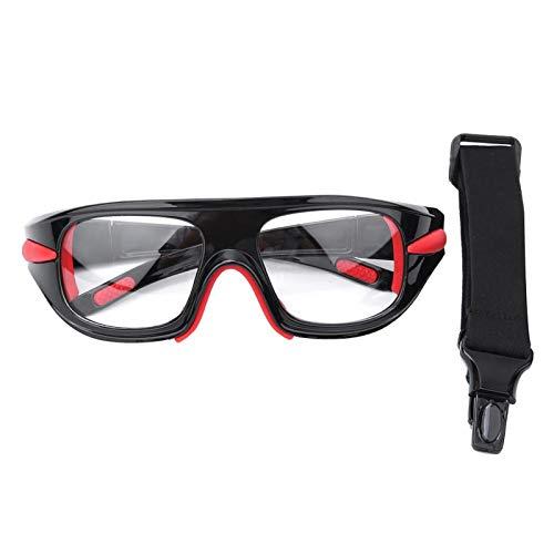 WENHANGshidai Gafas de Seguridad, Gafas Deportivas de Seguridad, Gafas Protectoras de Lentes de PC de Baloncesto antichoque, para fútbol al Aire Libre(Rojo Negro)