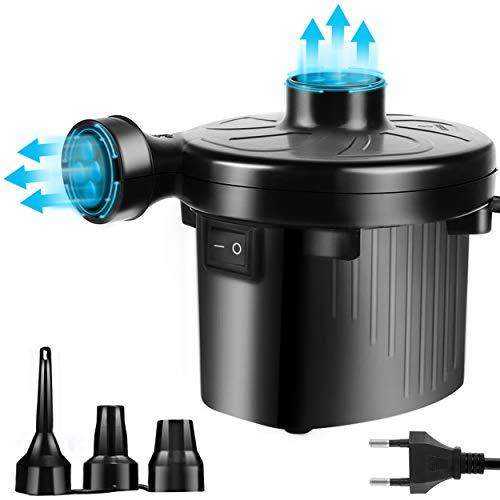 ONBET Elektrische Pumpe für Inflatable Luftmatratze, Planschbecken Spielzeug, AC220-240V/130W Schwarz