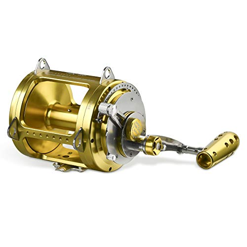 Gomexus Trolling Reel Tuna Shark Conventional Saltwater Reel 2 Speed 150lbs 80W 10 Year Test