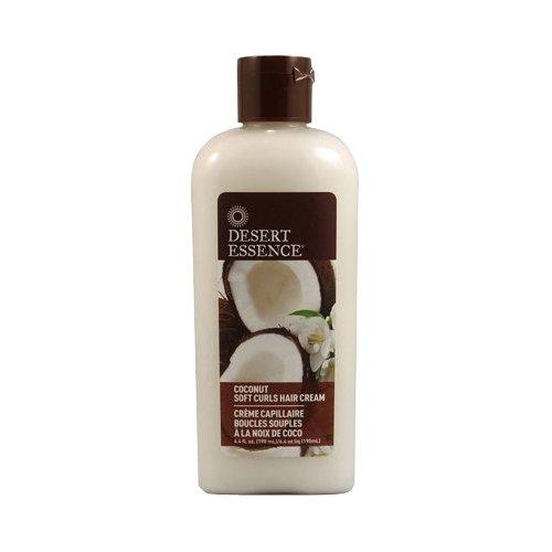 Desert Essence Soins pour cheveux frisés, doux et brillants à la noix de coco, 190 ml