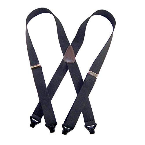 Holdup Suspender companys 24 Infant size X-back Black Suspenders with black Patented Gripper Clasps