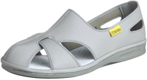 [ミドリ安全] 静電作業靴 静電気帯電防止 サンダル エレパスクールN メンズ グレイ 24.0 cm 3E
