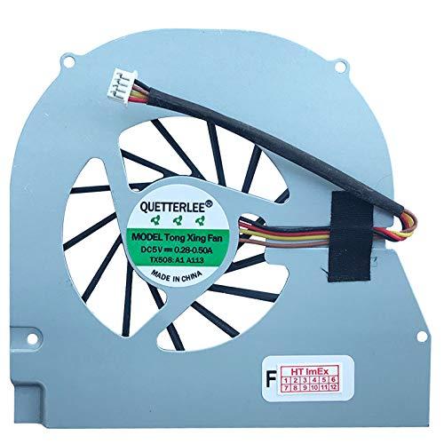 Lüfter Kühler Fan Cooler kompatibel für Toshiba Qosmio X770-10U, X770-133, X770-13E, X775-Q7170, Qosmio X770-10M, X770-128, X770-138, X775-3DV78, Qosmio X770-11C