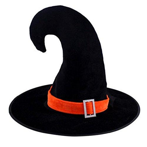 Black Temptation Fiesta de Disfraces de Halloween Disfraz Sombrero de Bruja Tip Cap Cosplay Crescent Cap-A2
