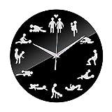Ritapreaty Nuevo Placer Sexual Postura Sexual Reloj de Pared