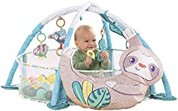 Infantino 4-in-1 Jumbo Baby Activity Gym & Ball Pit - Combination Baby Activity Gym and Ball Pit for Sensory Exploration and Motor Skill Development, for Newborns, Babies and Toddlers