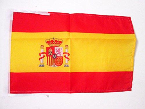 AZ FLAG Bandera de ESPAÑA 45x30cm - BANDERINA ESPAÑOLA 30 x 45 cm cordeles
