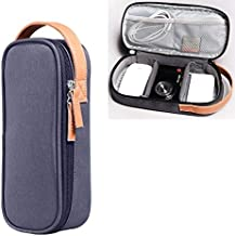 SHUHAN Computer Laptop Accessory Multi-function Headphone Charger Data Cable Storage Bag, Ultra Fiber Portable Power Pack, Size: M, 16.5x6x23.5cm(Gray) Laptop Shoulder Bags Case (Color : Blue)
