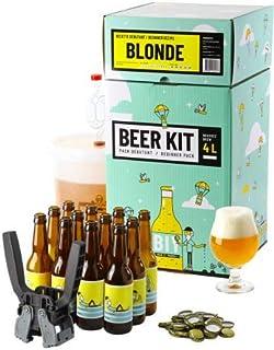 Kit de Brassage Débutant Complet, Je Brasse et j'embouteille 4 litres de bière - Idée Cadeau 100% découverte - Je Brasse à...