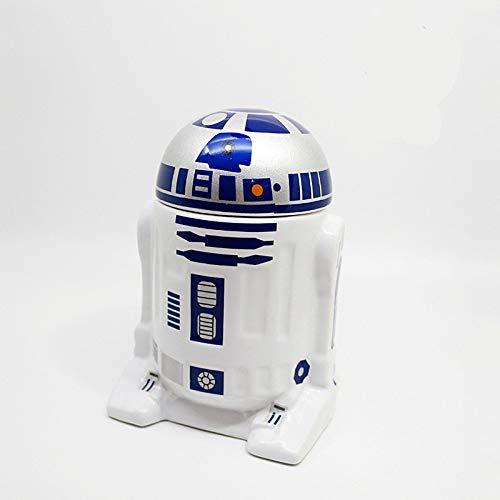 MOSHEN Trinkbecher,Kaffeetassen,Handmade,Müsli to Go Becher,Mark Cup Kreative Star Wars R2-D2 Robotik Keramik