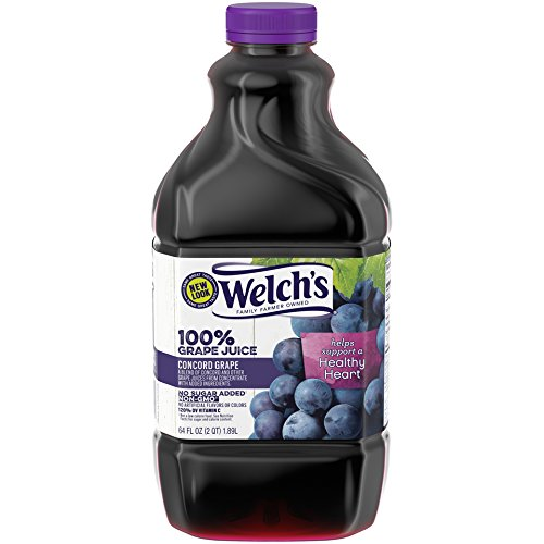 Welch's 100% Juice, Concord Grape, No Sugar Added, 64 Ounce...
