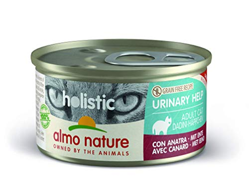 almo nature Holistic Urinary Help mit Ente - Alleinfutter für Erwachsene Katzen,Nassfutter 24er Pack (24x85g)