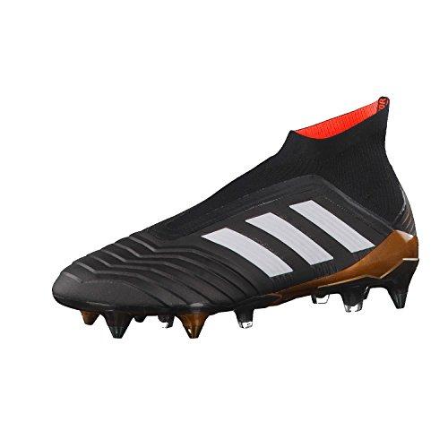 Adidas Predator 18+ SG, Botas de fútbol Hombre, Negro (Negbas/Ftwbla/Rojsol 000), 39 1/3 EU