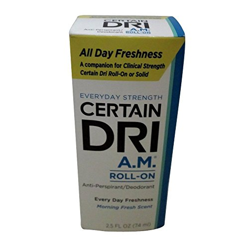 CERTAIN DRI Everyday Strength Clinical Roll On Antiperspirant/Deodorant Morning Fresh 2.5 oz (Pack of 3)