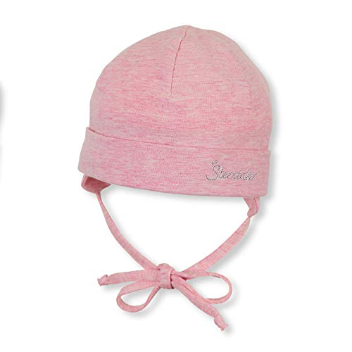 Sterntaler Beanie Hat with Turn Up Bonnet, Rose (Rosa Mel. 703), Large (Taille fabricant: 39) Bébé Fille