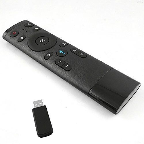 Docooler, telecomando senza fili 2,4 G con ricevitore USB, comando vocale, per Smart TV Android, TV Box, HTPC, proiettore PC nero
