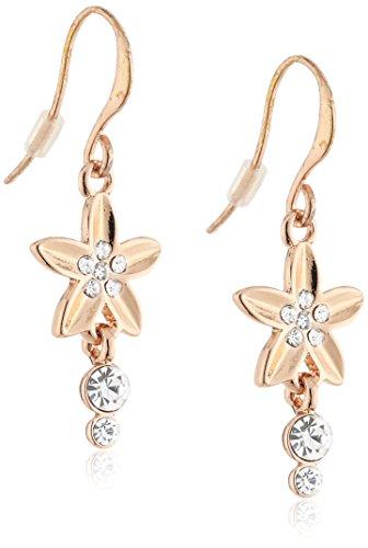 Pilgrim Jewelry Damen-Ohrhänger Messing aus der Serie soft glimpse roségold beschichtet,weiß 3.5 cm 171324013