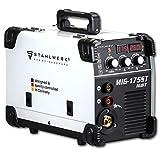 STAHLWERK MIG 175 ST IGBT máquina de soldadura con gas de protección MIG MAG y 175 A, adecuada para FLUX, con MMA soldadura de electrodos, 7 años de garantía