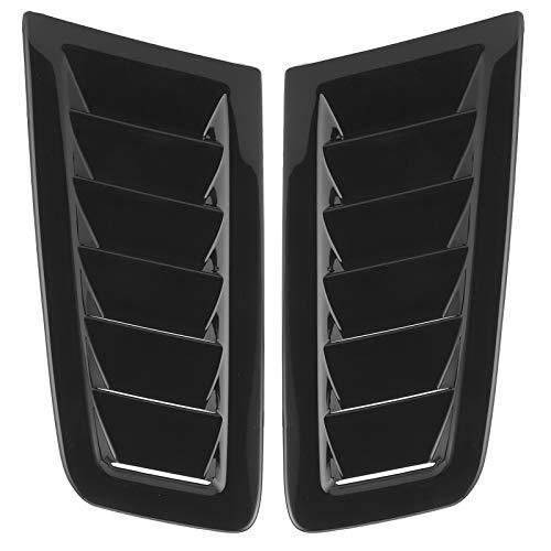 Akozon Kit de Pala de ventilación para capó de Coche Rejillas de Entrada de Flujo de Aire Capuchas de ventilación Cubierta del capó para Focus RS MK2 Style(Negro)