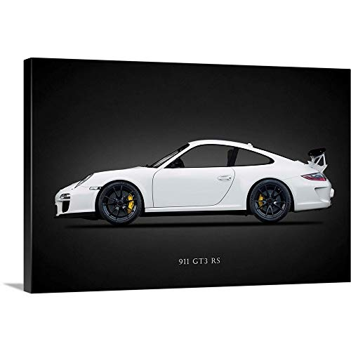 "Porsche 911 GT3 RS 2011 Canvas Wall Art Print, 60""x40""x1.25"""
