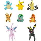 Pokémon Juego de 8 figuras de combate con Charmander, Bulbasaur Squirtle, Mimikyu, Pikachu, Eevee, Umbreon, Espeon, perfecto para cualquier entrenador