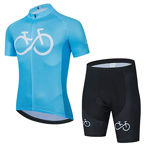 Herren Radtrikot Set Trägerhose Sommer Atmungsaktiv Kurzarm Bike Shirts Fahrradanzug. A,XXL