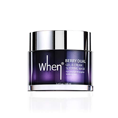 When Beauty Berry Dual Gel and Cream Anti Aging Unisex Facial Sleeping Mask, Cruelty Free And Vegan, 100ml