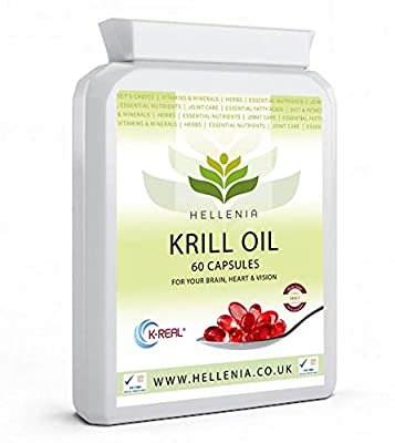 Hellenia 100% Antarctic Krill Oil 500mg - 90 Capsules - Pure High Quality Product