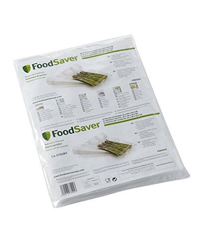FoodSaver 32 Sacchetti Termosigillabili per Sigillatrice per Sottovuoto, senza BPA, 28 x 37 cm