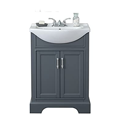 "Legion Furniture WLF6046 bathroom vanity, 24"", Dark Grey"