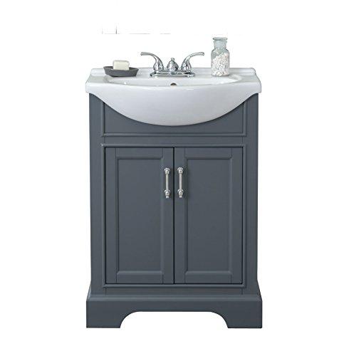 Legion Furniture WLF6046 bathroom vanity, 24', Dark Grey