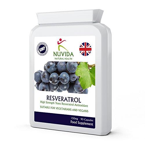 Resveratrol Capsules / 90 (150mg) Targeted Release Capsules/Premium Resveratrol Supplement/Vegan and Vegetarian Friendly