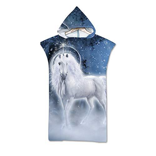 NAID Adult's poncho badhanddoek Cape Unicorn print capuchon handdoek strandhanddoek met capuchon 140 * 75cm