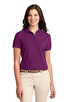 Port Authority Women s Silk Touch Polo M Deep Berry