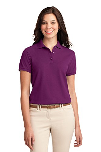 Port Authority Women's Silk Touch Polo M Deep Berry
