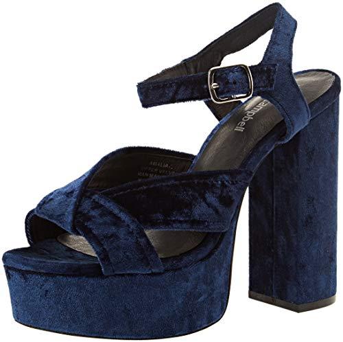 Jeffrey Campbell Amalia, Sandales Plateau Femme, Bleu (Blue 001), 40 EU