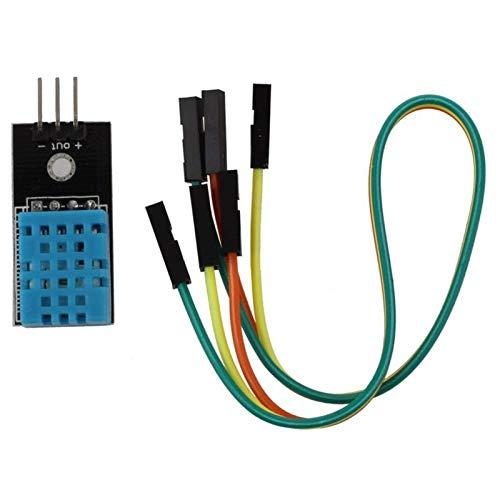 Temperatur- und Feuchtigkeitssensor-Modul DHT11 mit 20-pin-männlichen bis weiblichen -Jumper-Kabel (Color : Only Module)