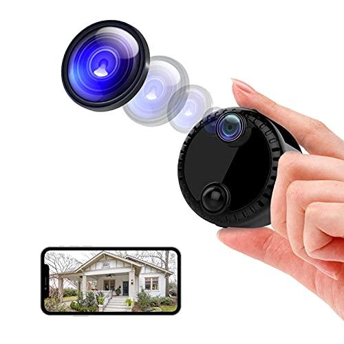 RUIZHI Mini cámara 4K HD IP, cámara de videollamada, cámara de seguridad para interior y exterior, con detección de movimiento y visión nocturna, acceso remoto
