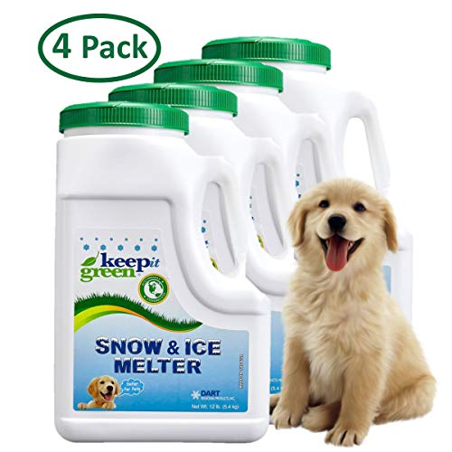 powerful Keep Green PetSafe Ice Melting – 12 lb jug, 4 packs in pack – Snow melting stones, non-toxic to kids …