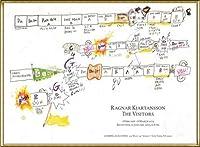 ポスター ラグナル キアルタンソン The Visitors February 1 ? March 6 2013年 額装品 アルミ製ハイグレードフレーム(ゴールド)