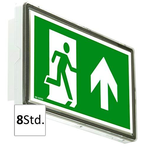 Notleuchte LED 8Stunden IP65 Notbeleuchtung Rettungszeichenleuchte Fluchtwegleuchte Notlicht Rettungszeichen (Pfeil nach unten)